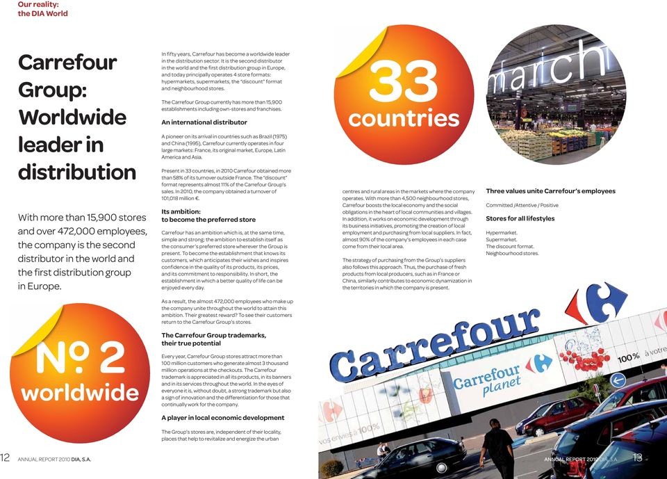 stores. The Carrefour Group currently has more than 15,900 establishments including own-stores and franchises.