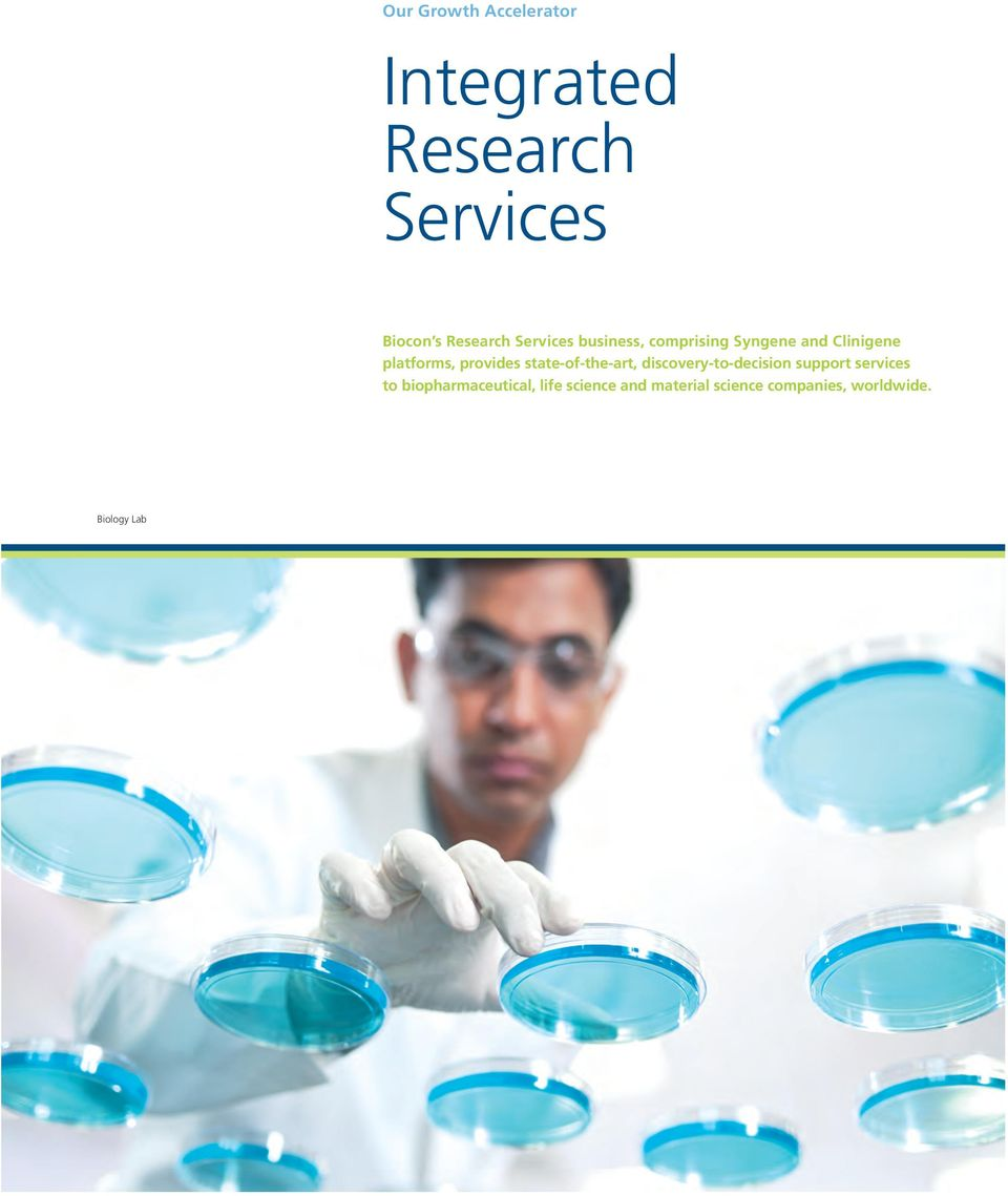 state-of-the-art, discovery-to-decision support services to