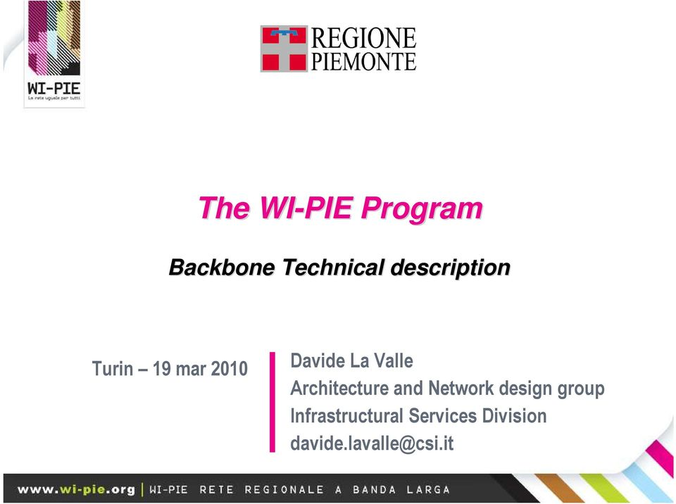 Valle Architecture and Network design group