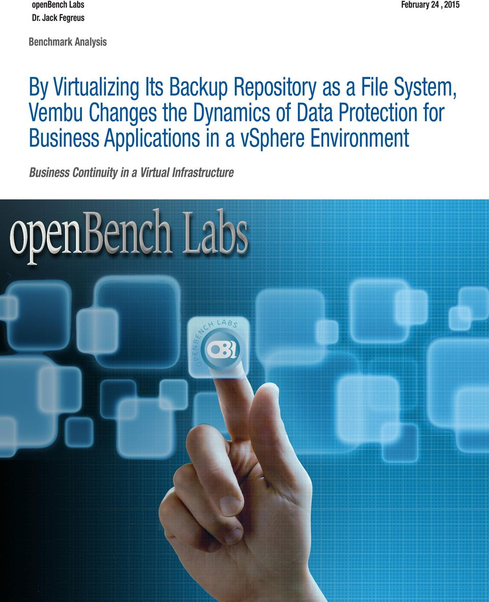 Its Backup Repository as a File System, Vembu Changes the Dynamics