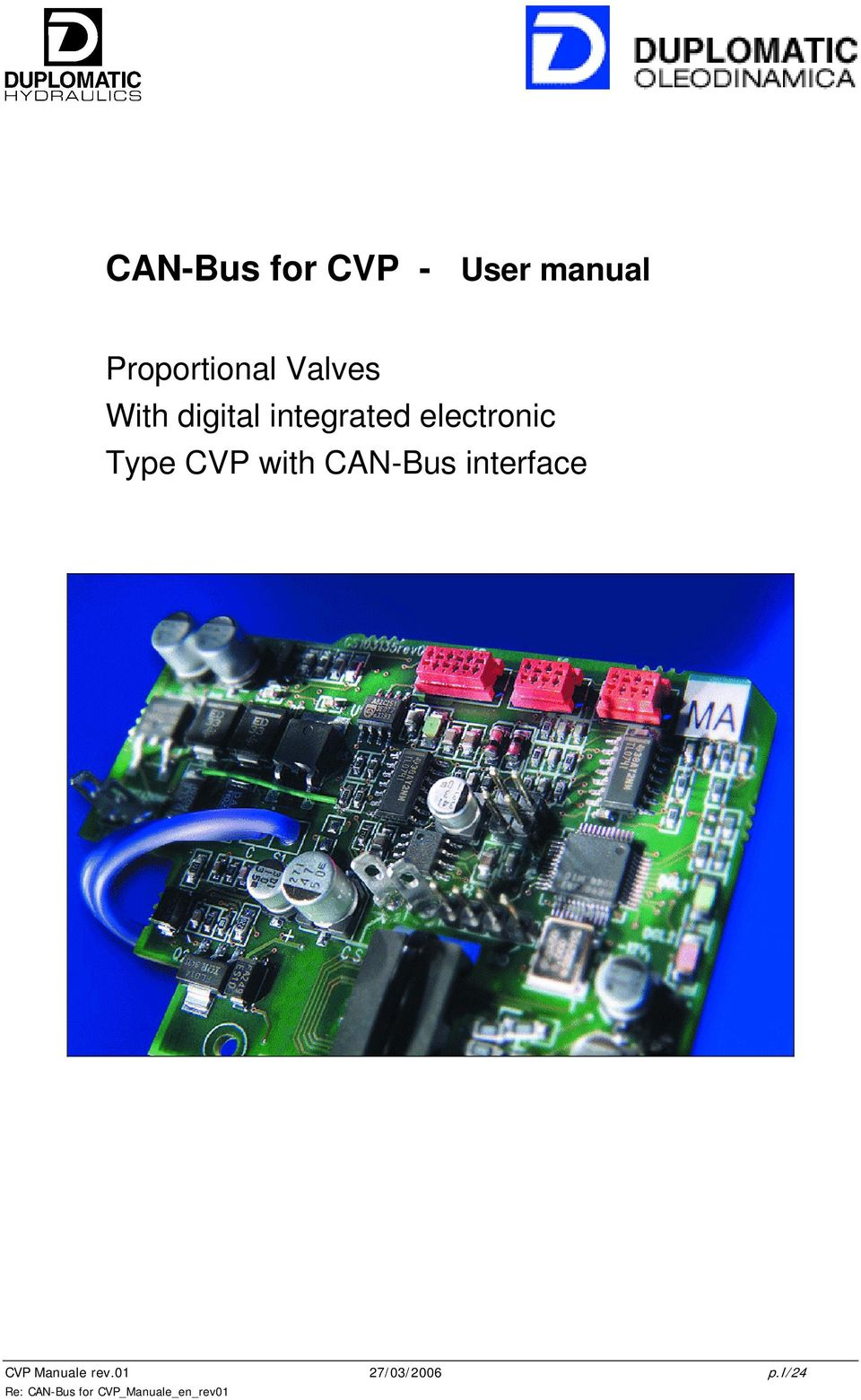 CVP with CAN-Bus interface CVP Manuale rev.