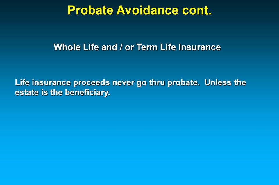 Insurance Life insurance proceeds