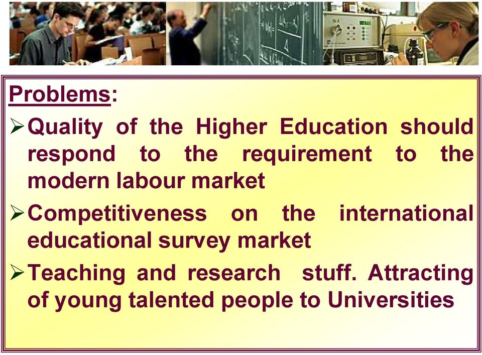 on the international educational survey market Teaching and
