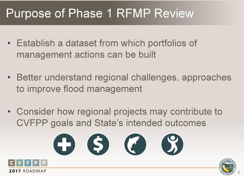regional challenges, approaches to improve flood management Consider