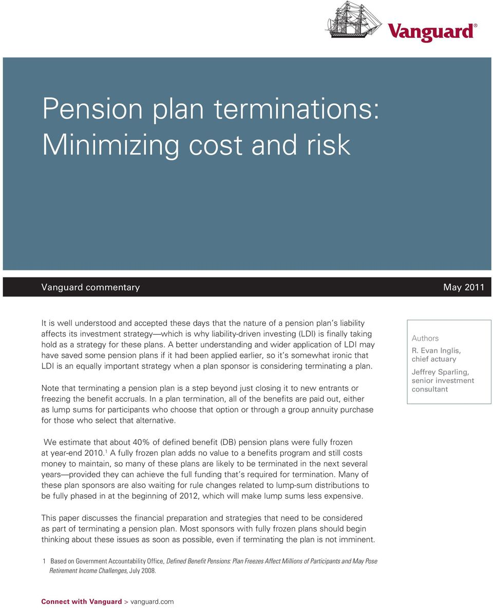 A better understanding and wider application of LDI may have saved some pension plans if it had been applied earlier, so it s somewhat ironic that LDI is an equally important strategy when a plan
