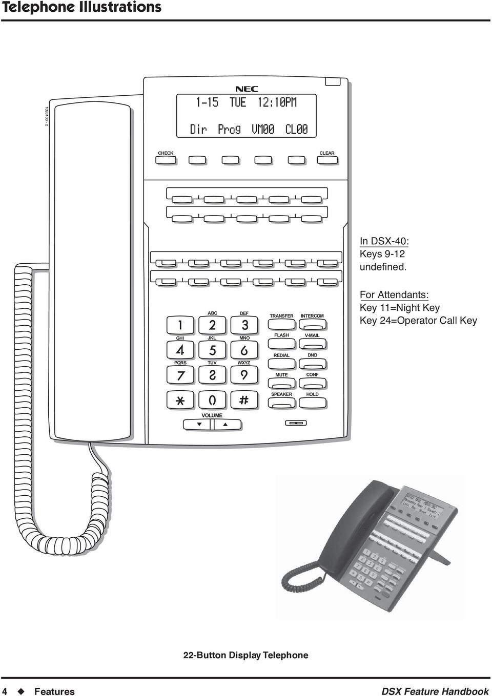 ABC DEF TRANSFER INTERCOM For Attendants: Key 11=Night Key Key 24=Operator Call Key GHI