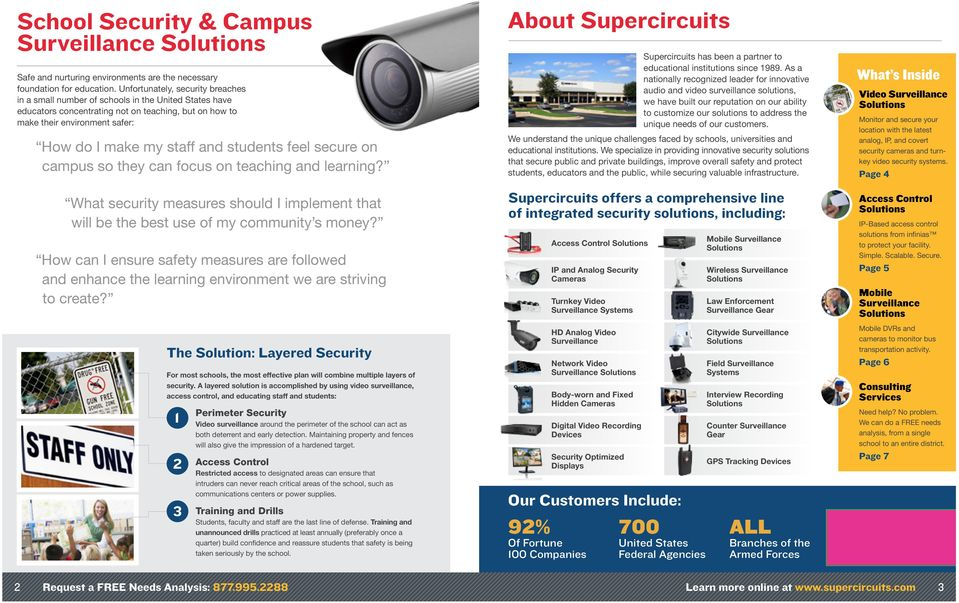 students feel secure on campus so they can focus on teaching and learning? About Supercircuits Supercircuits has been a partner to educational institutions since 1989.