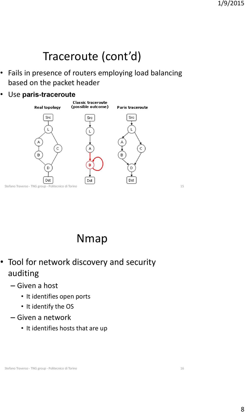 network discovery and security auditing Given a host It identifies open ports It identify the OS