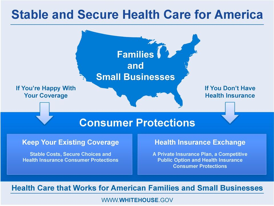 Consumer Protections Health Insurance Exchange A Private Insurance Plan, a Competitive Public Option and