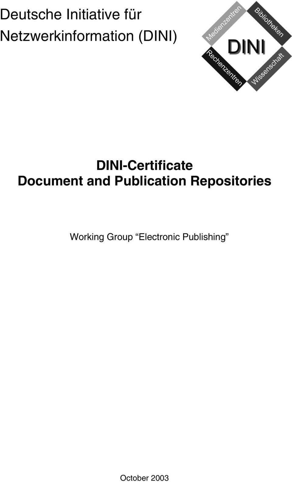 DINI-Certificate Document and
