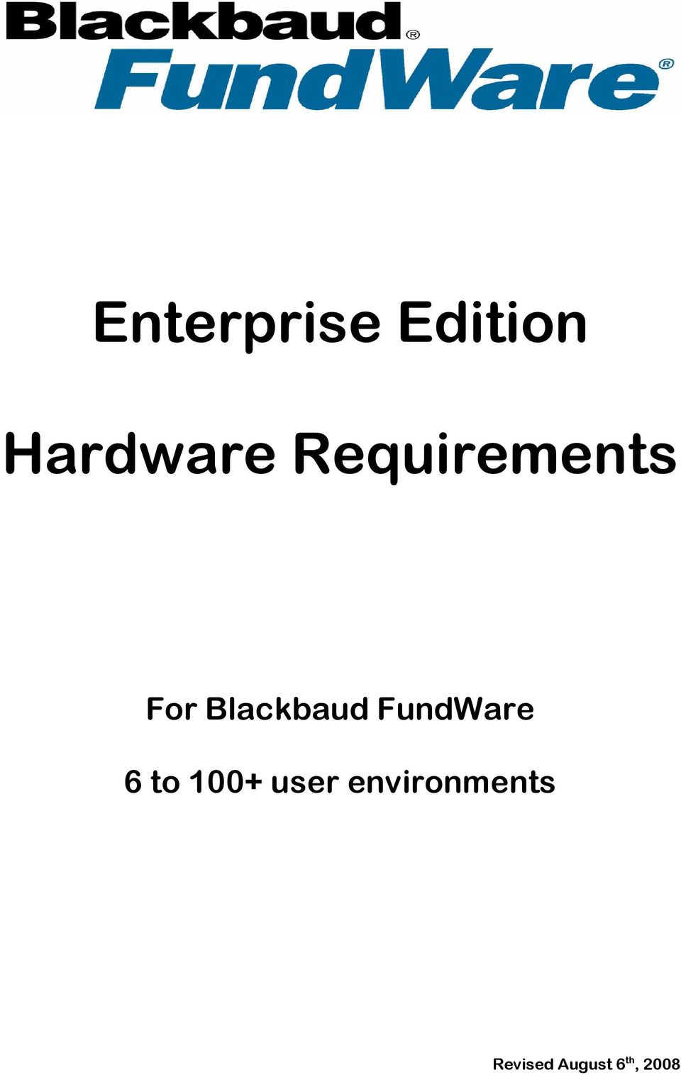 FundWare 6 to 100+ user
