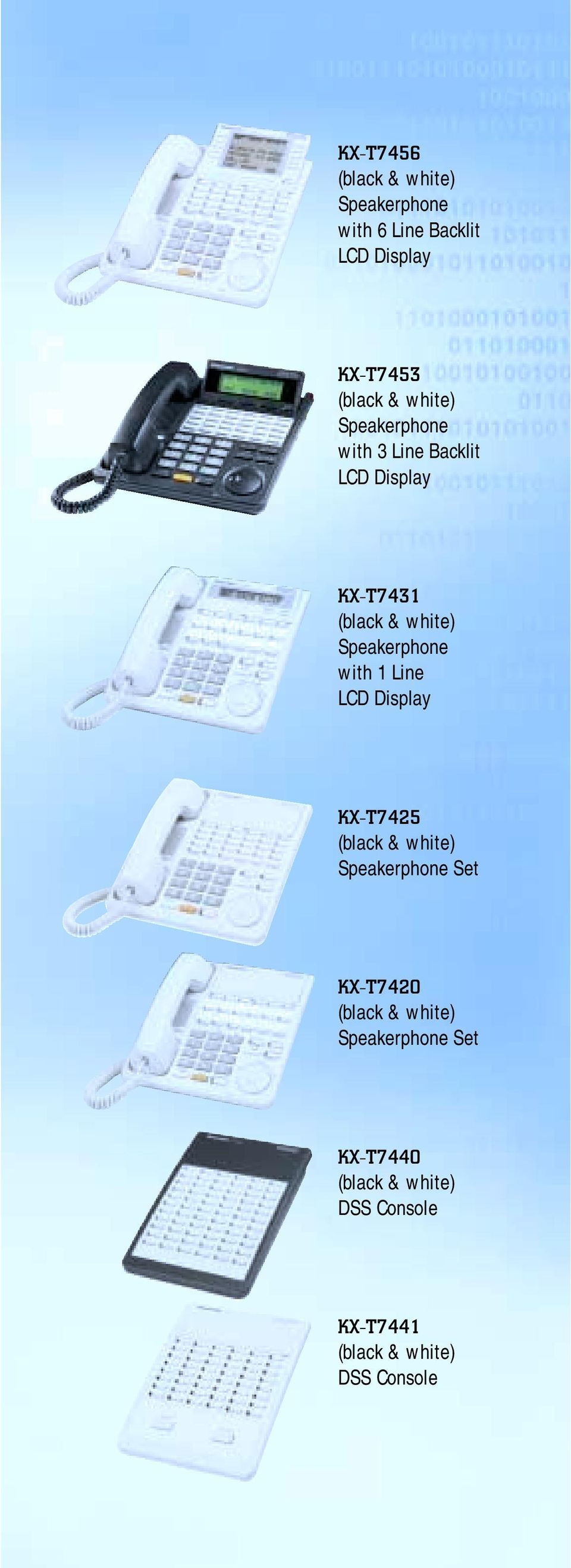 Speakerphone with 1 Line KX-T7425 Speakerphone Set