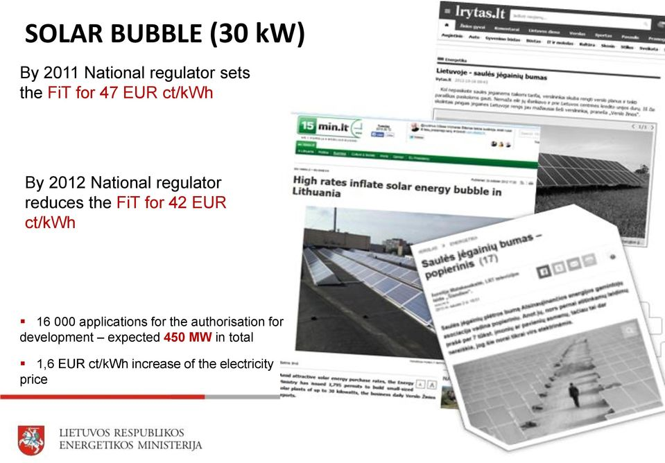 ct/kwh 16 000 applications for the authorisation for development