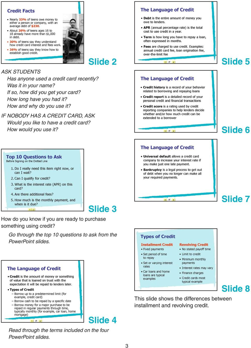 Slide 2 Slide 5 Slide 6 Slide 3 How do you know if you are ready to purchase something using credit?