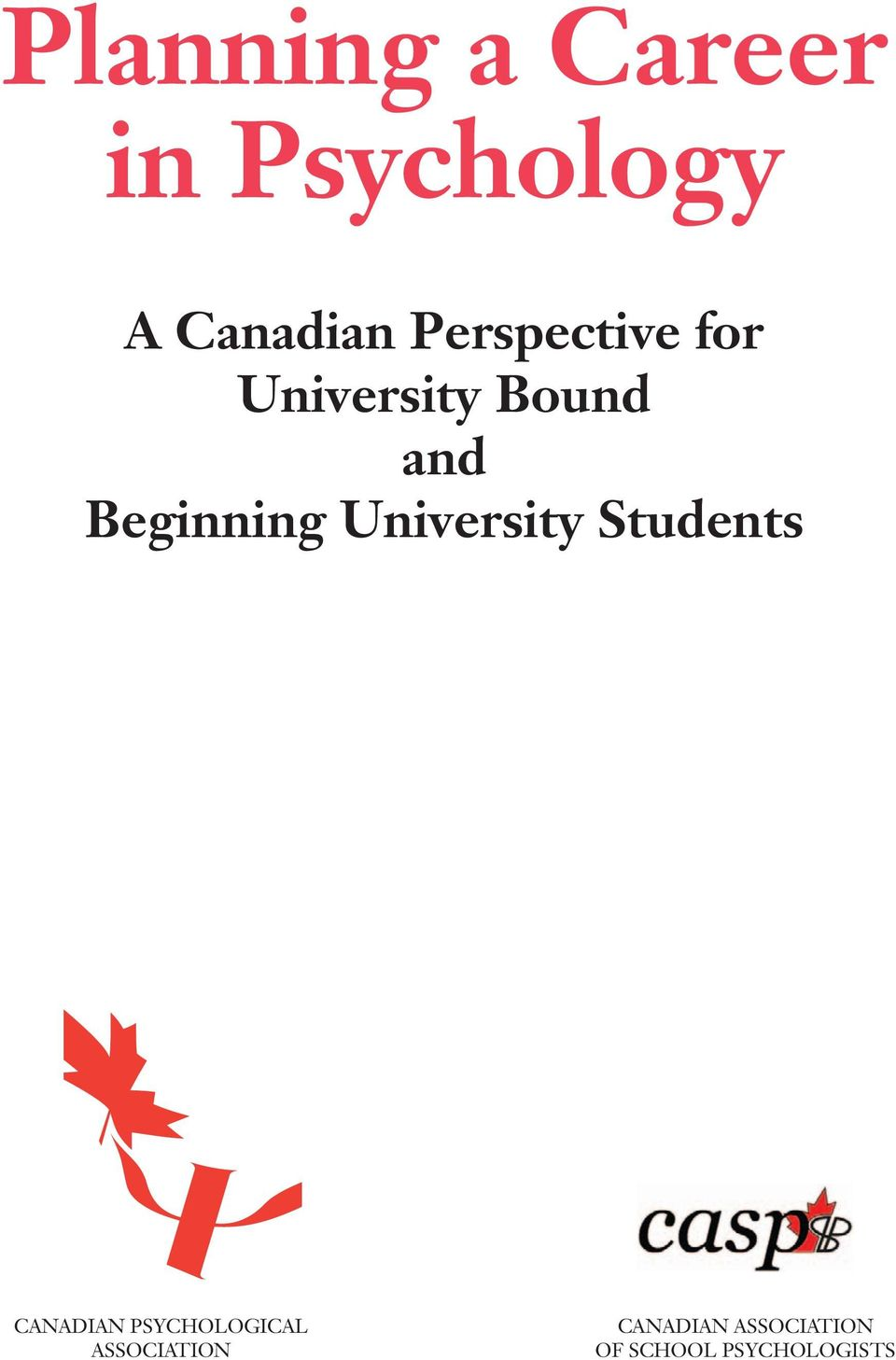 University Students CANADIAN PSYCHOLOGICAL