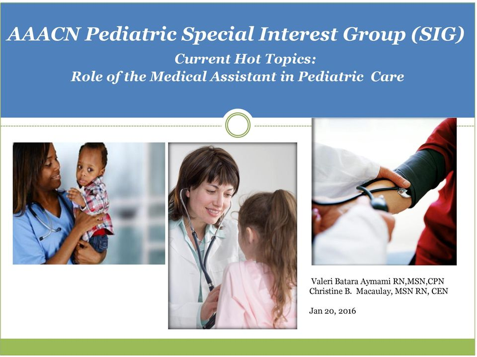Assistant in Pediatric Care Valeri Batara