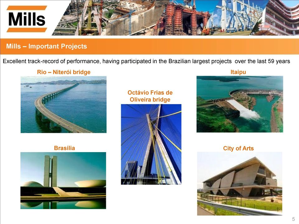 largest projects over the last 59 years Rio Niterói