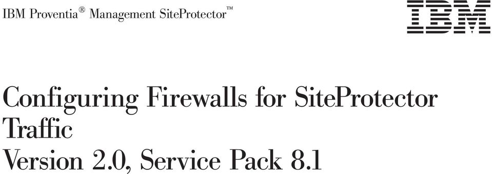 Firewalls for SiteProtector