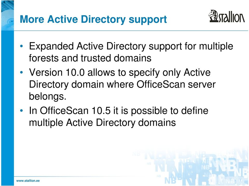 0 allows to specify only Active Directory domain where OfficeScan