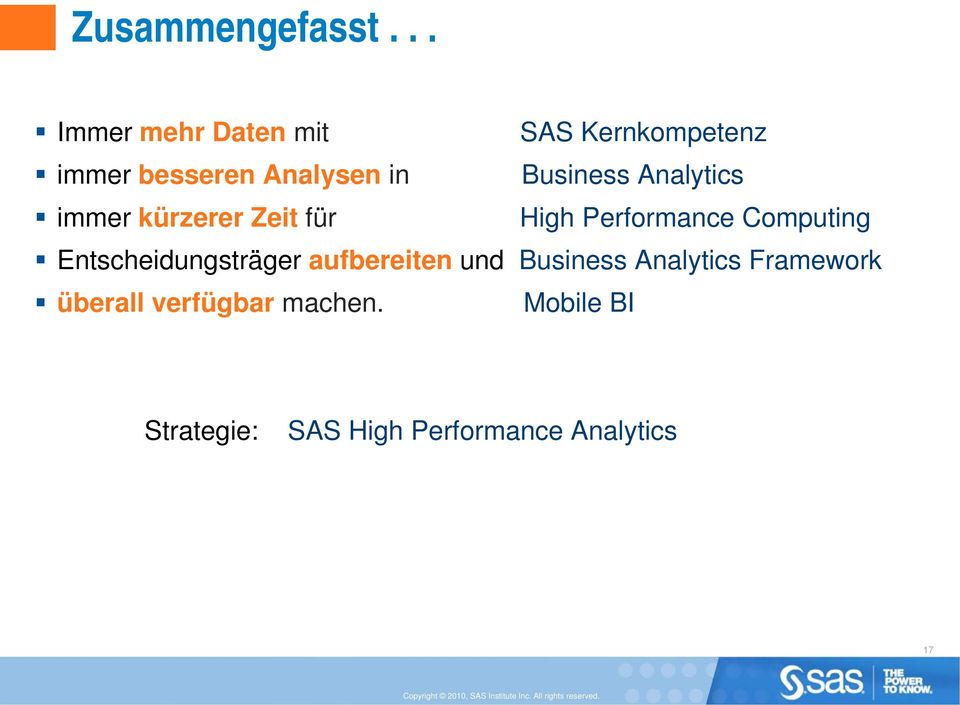Business Analytics immer kürzerer Zeit für High Performance Computing
