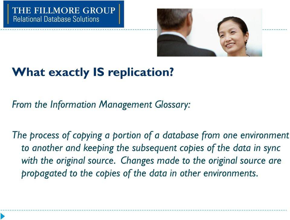 database from one environment to another and keeping the subsequent copies of the