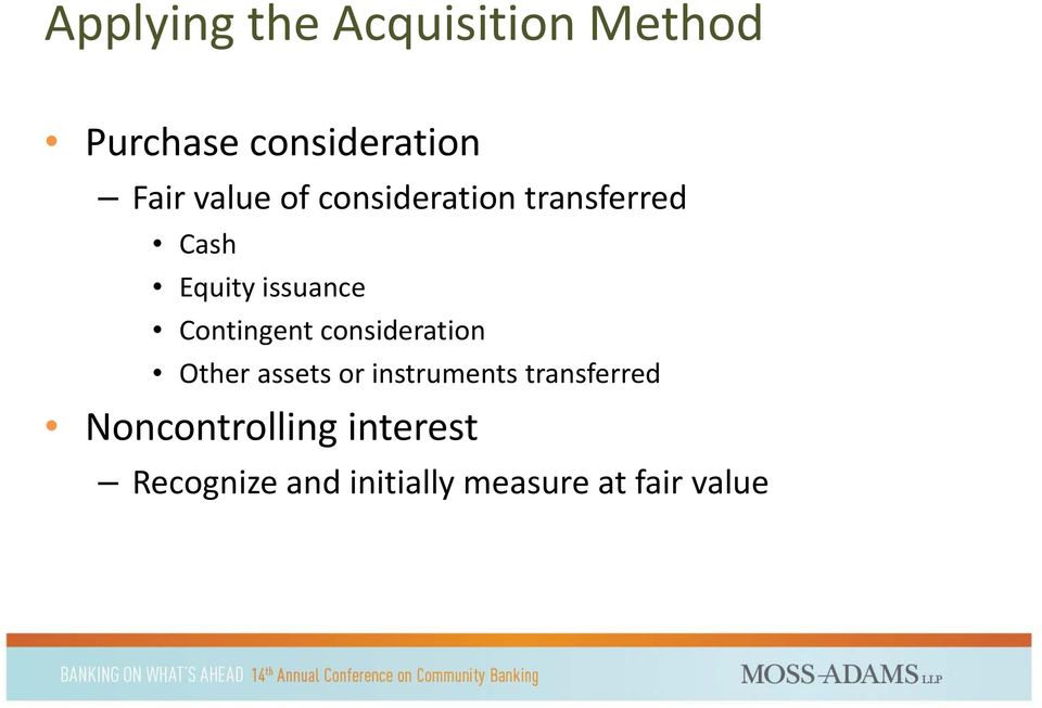 Contingent consideration Other assets or instruments