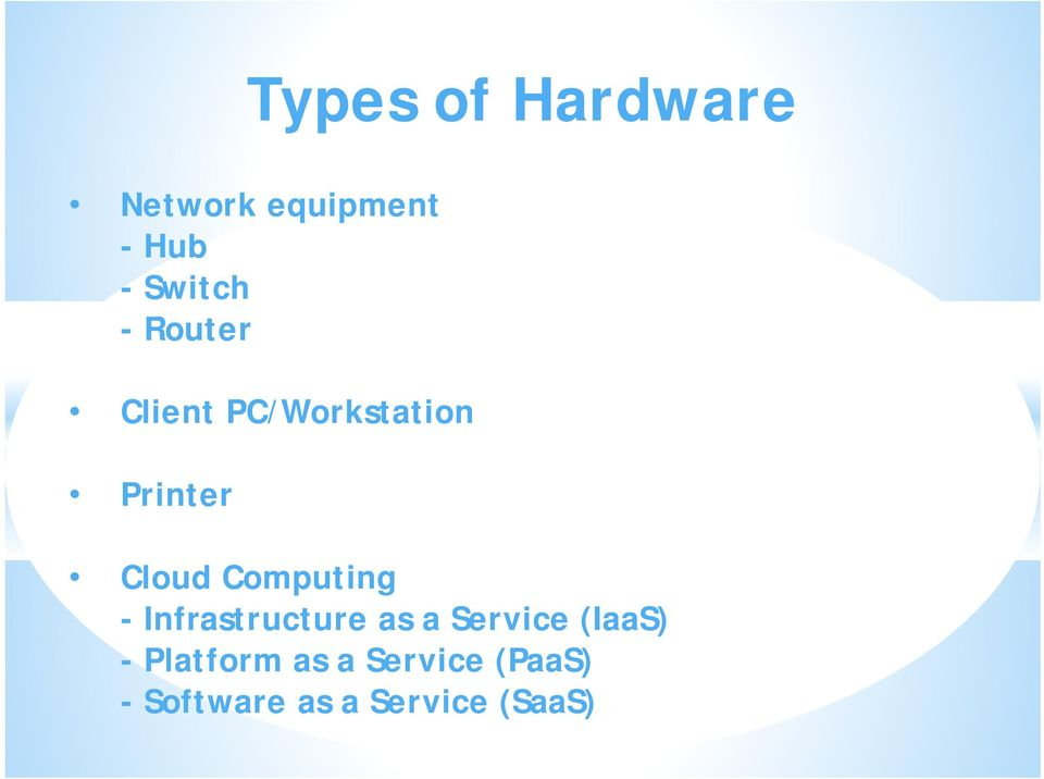 Computing - Infrastructure as a Service (IaaS) -