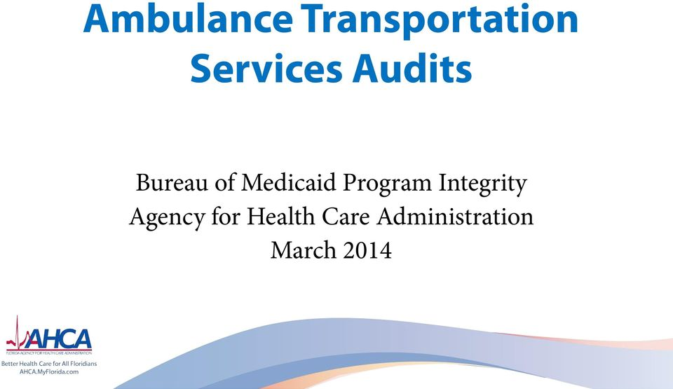 Medicaid Program Integrity