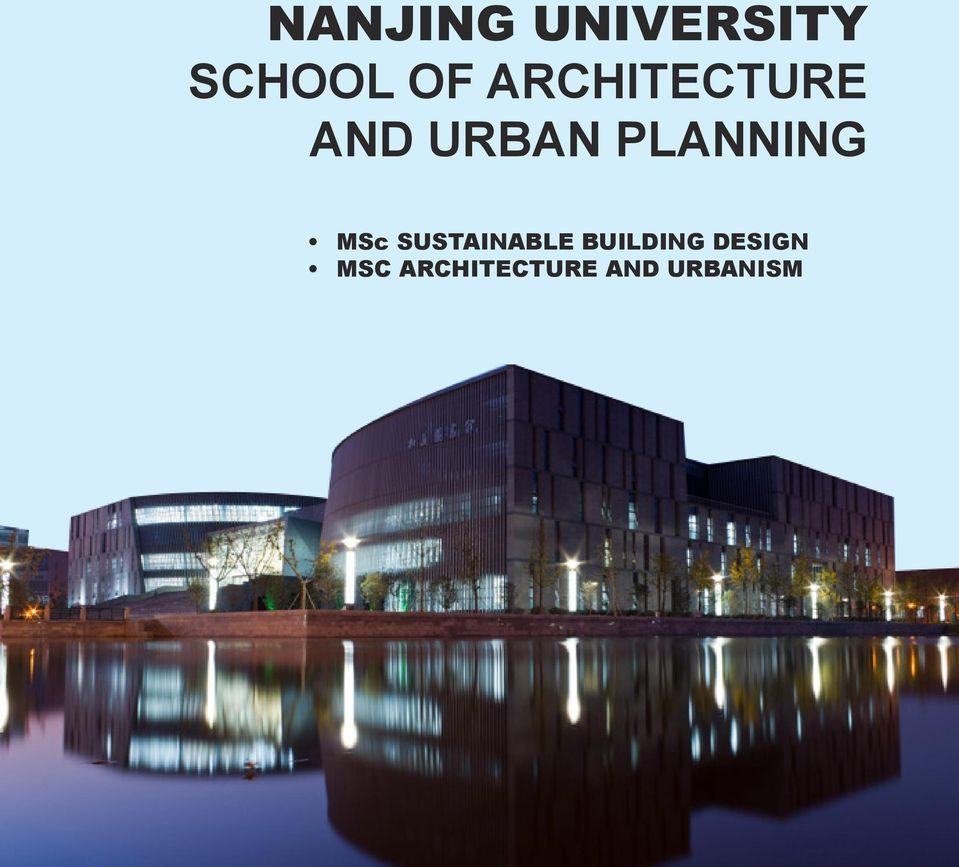 PLANNING MSc SUSTAINABLE