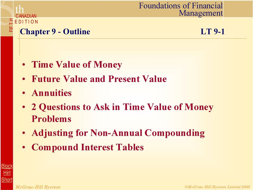 Questions to Ask in Time Value of Money Problems