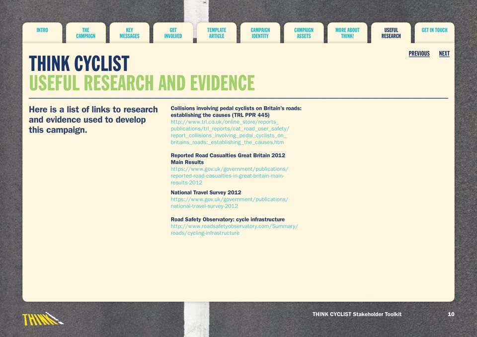 uk/online_store/reports_ publications/trl_reports/cat_road_user_safety/ report_collisions_involving_pedal_cyclists_on_ britains_roads:_establishing_the_causes.