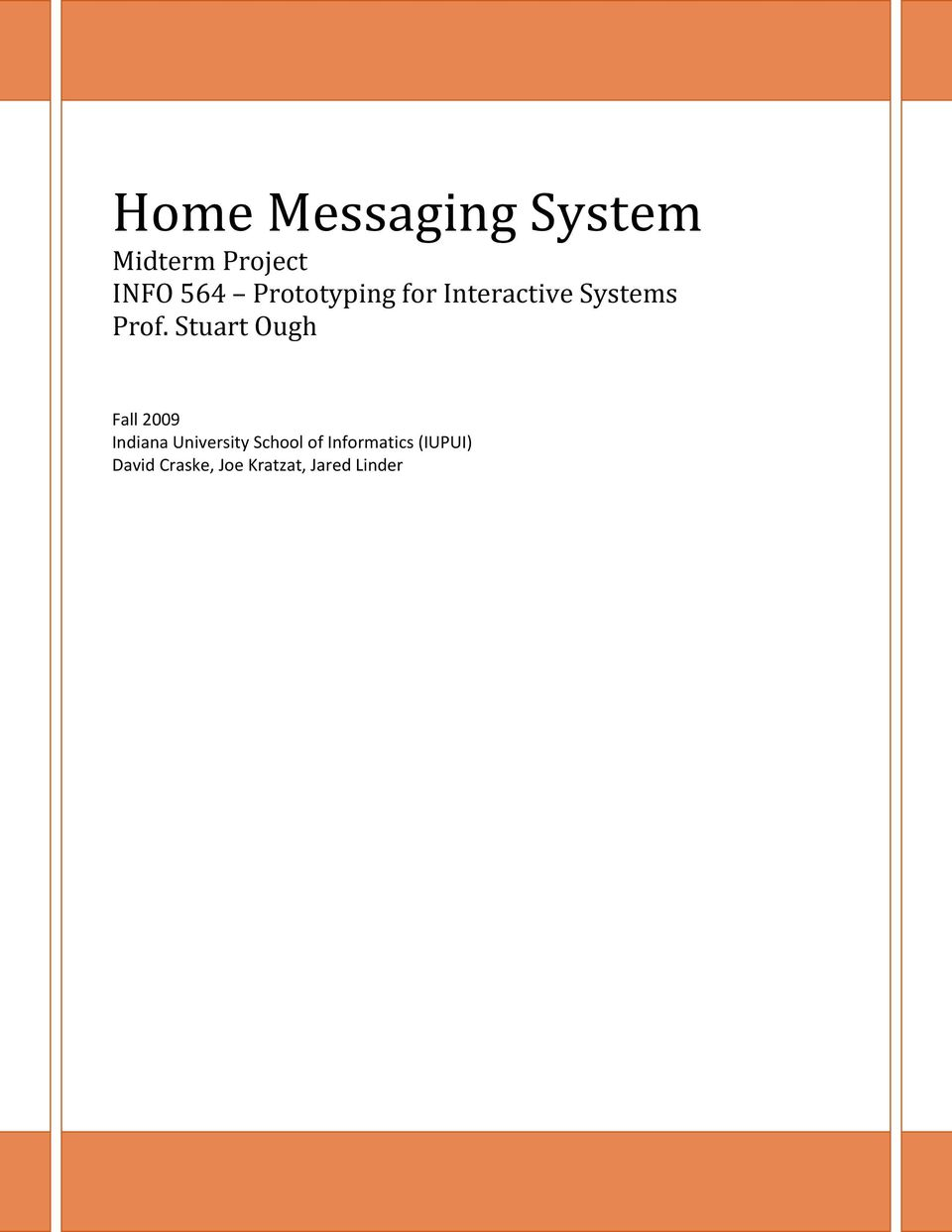 Home messaging system
