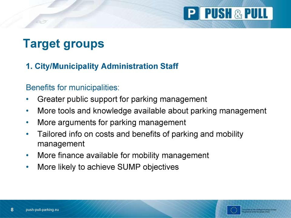 parking management More tools and knowledge available about parking management More arguments