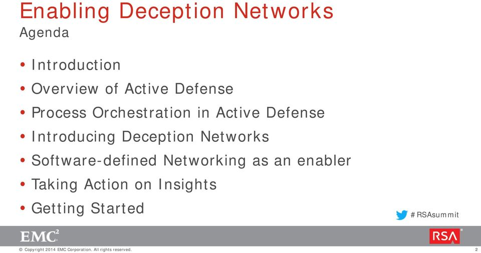 Introducing Deception Networks Software-defined