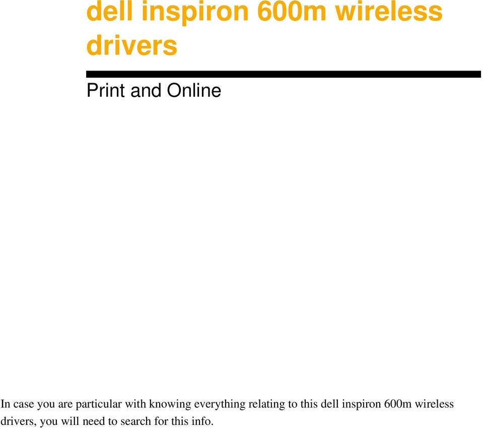 everything relating to this dell inspiron 600m