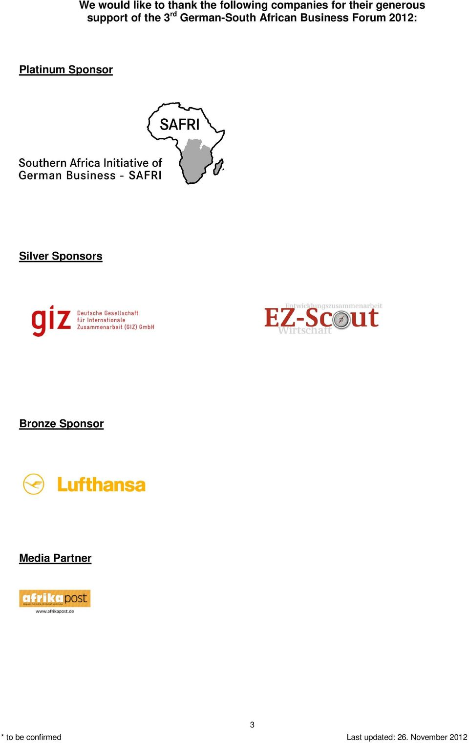 German-South African Business Forum 2012: