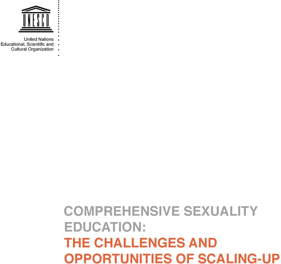 Comprehensive sexuality education: