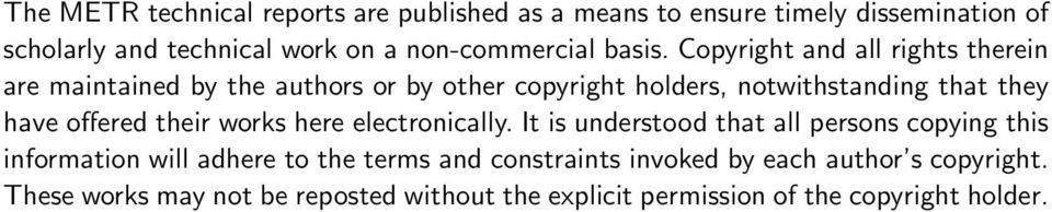 Copyright and all rights therein are maintained by the authors or by other copyright holders, notwithstanding that they have offered