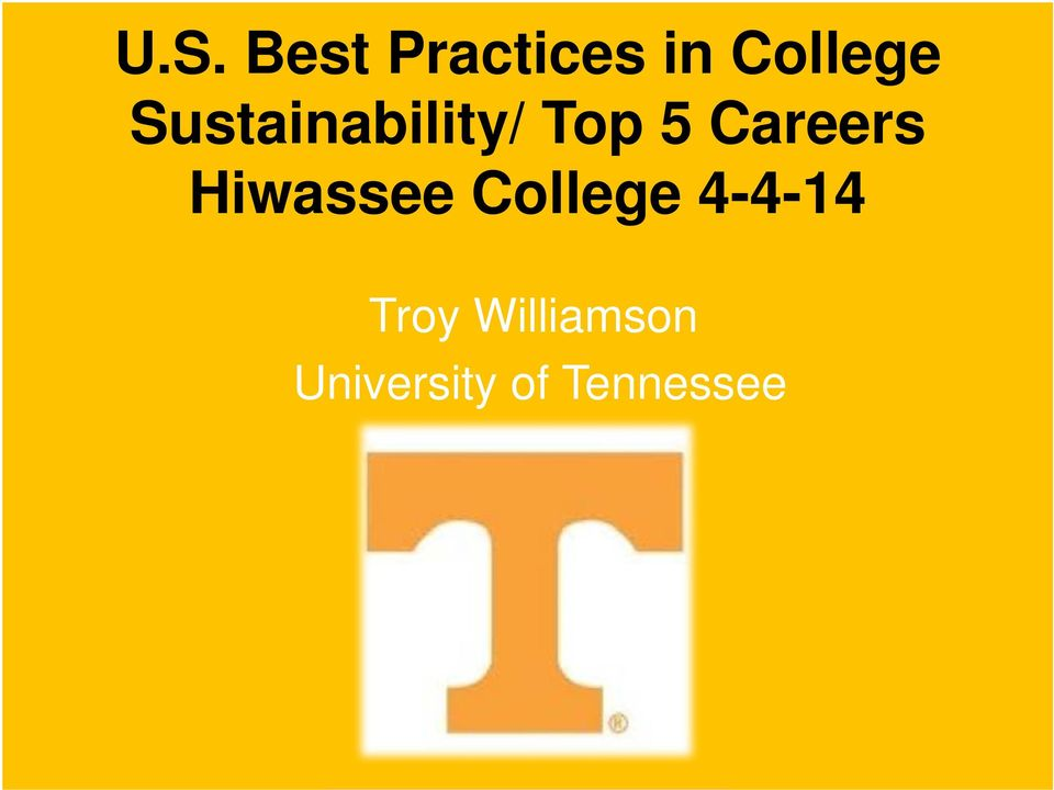 Hiwassee College 4-4-14 Troy