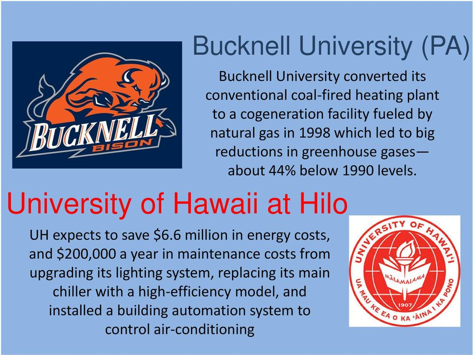 University of Hawaii at Hilo UH expects to save $6.