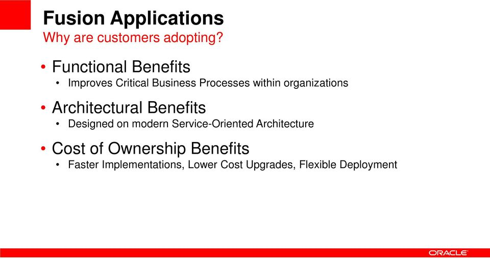 organizations Architectural Benefits Designed on modern Service-Oriented
