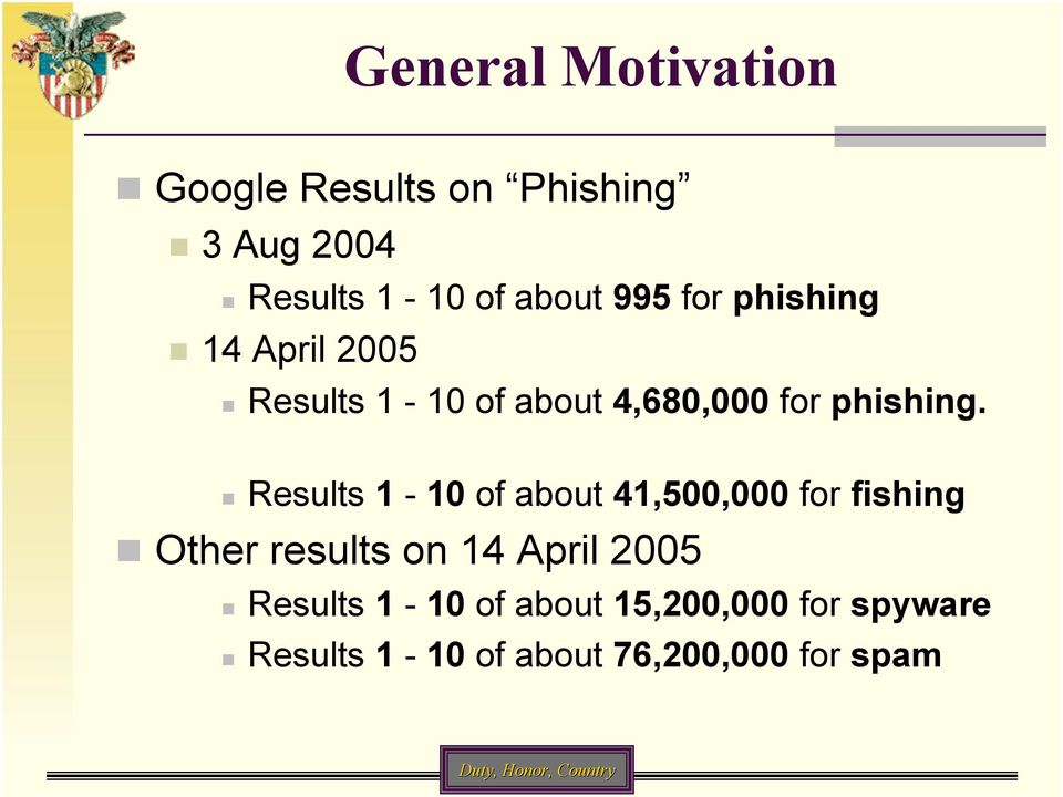 Results 1-10 of about 41,500,000 for fishing Other results on 14 April 2005
