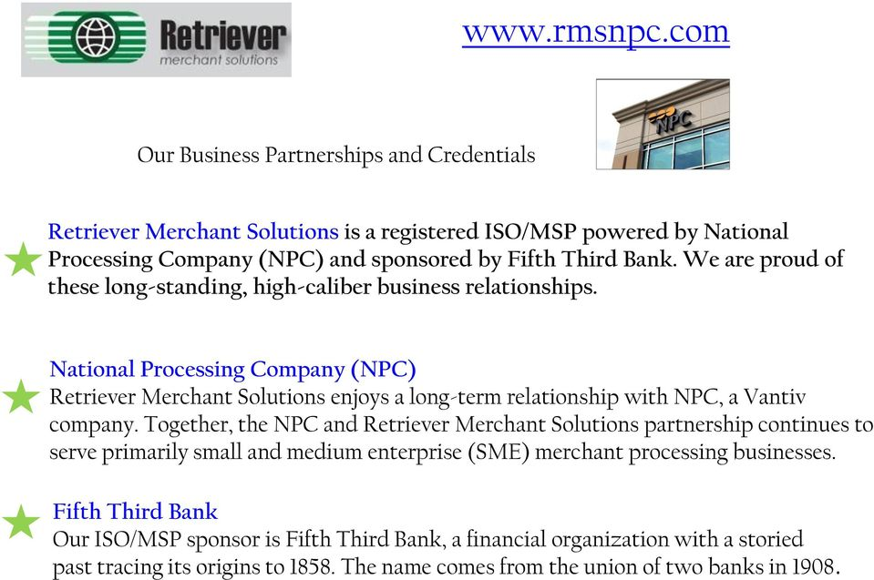 We are proud of these long-standing, high-caliber business relationships.