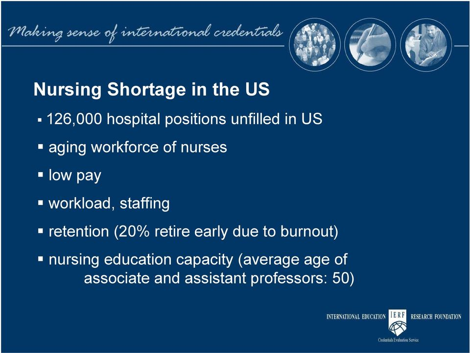 staffing retention (20% retire early due to burnout) nursing