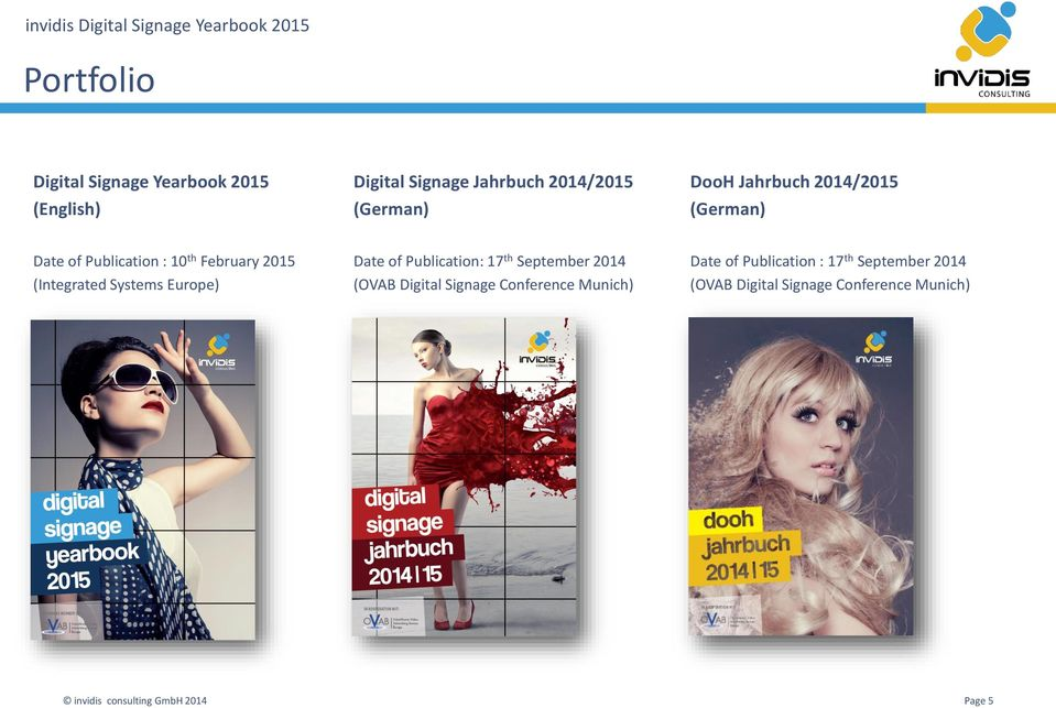 (Integrated Systems Europe) Date of Publication: 17 th September 2014 (OVAB Digital Signage
