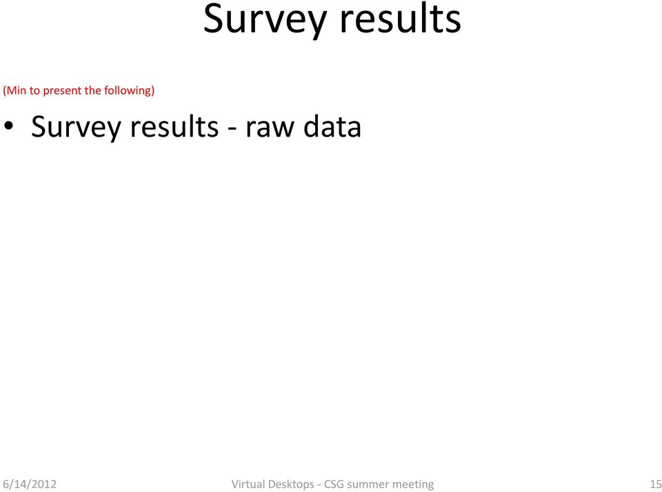 results raw data 6/14/2012