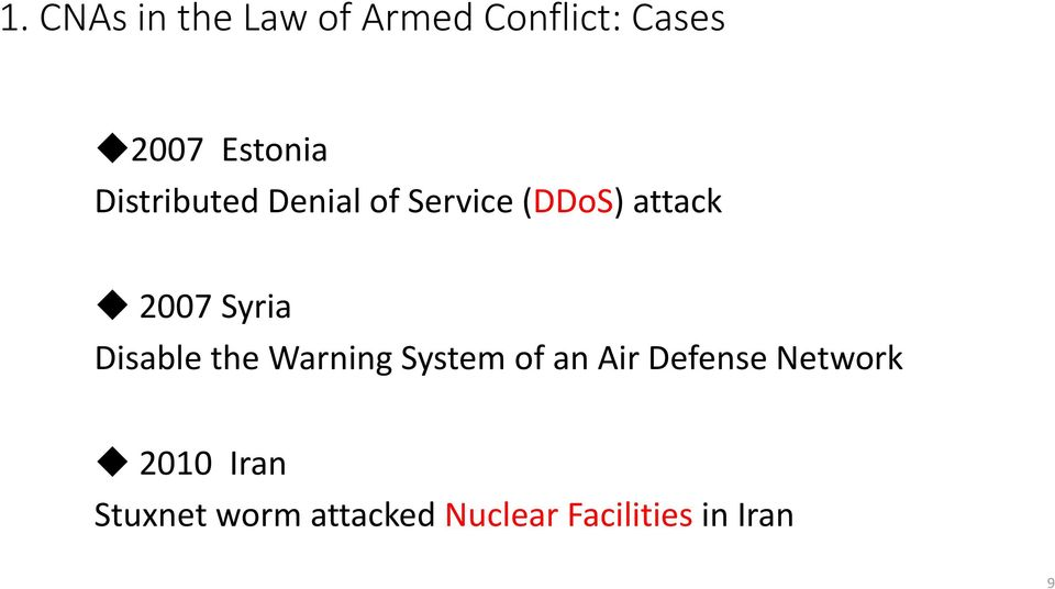 Disable the Warning System of an Air Defense Network