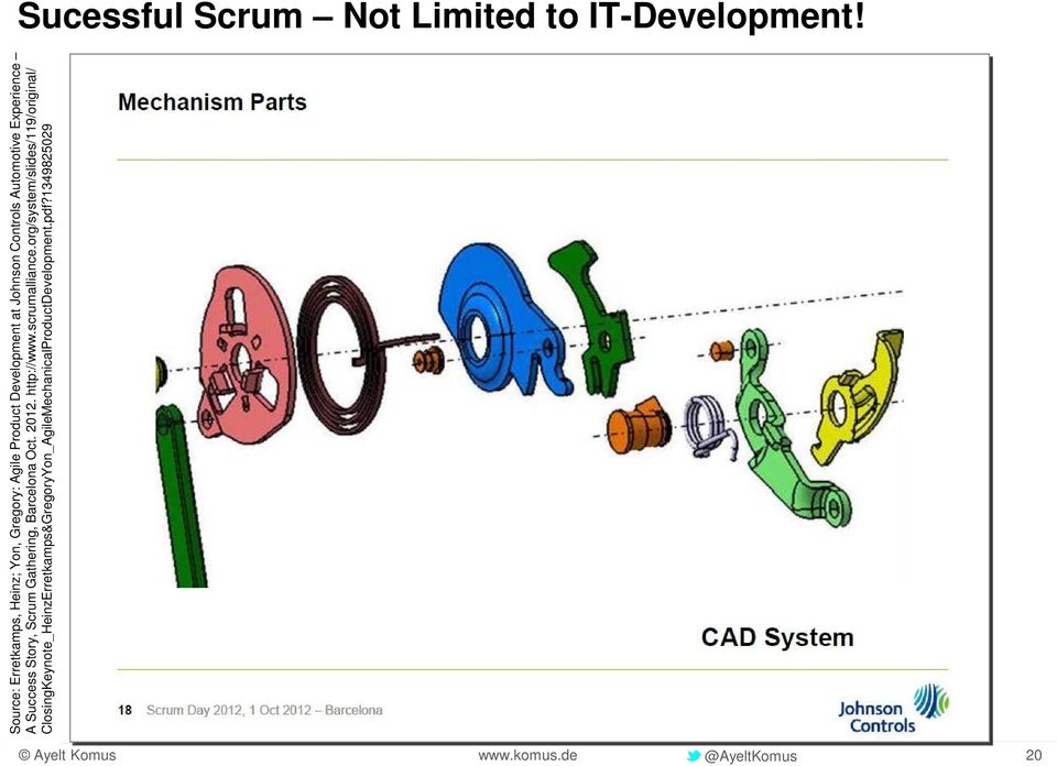 Automotive Experience A Success Story, Scrum Gathering, Barcelona Oct. 2012. http://www.