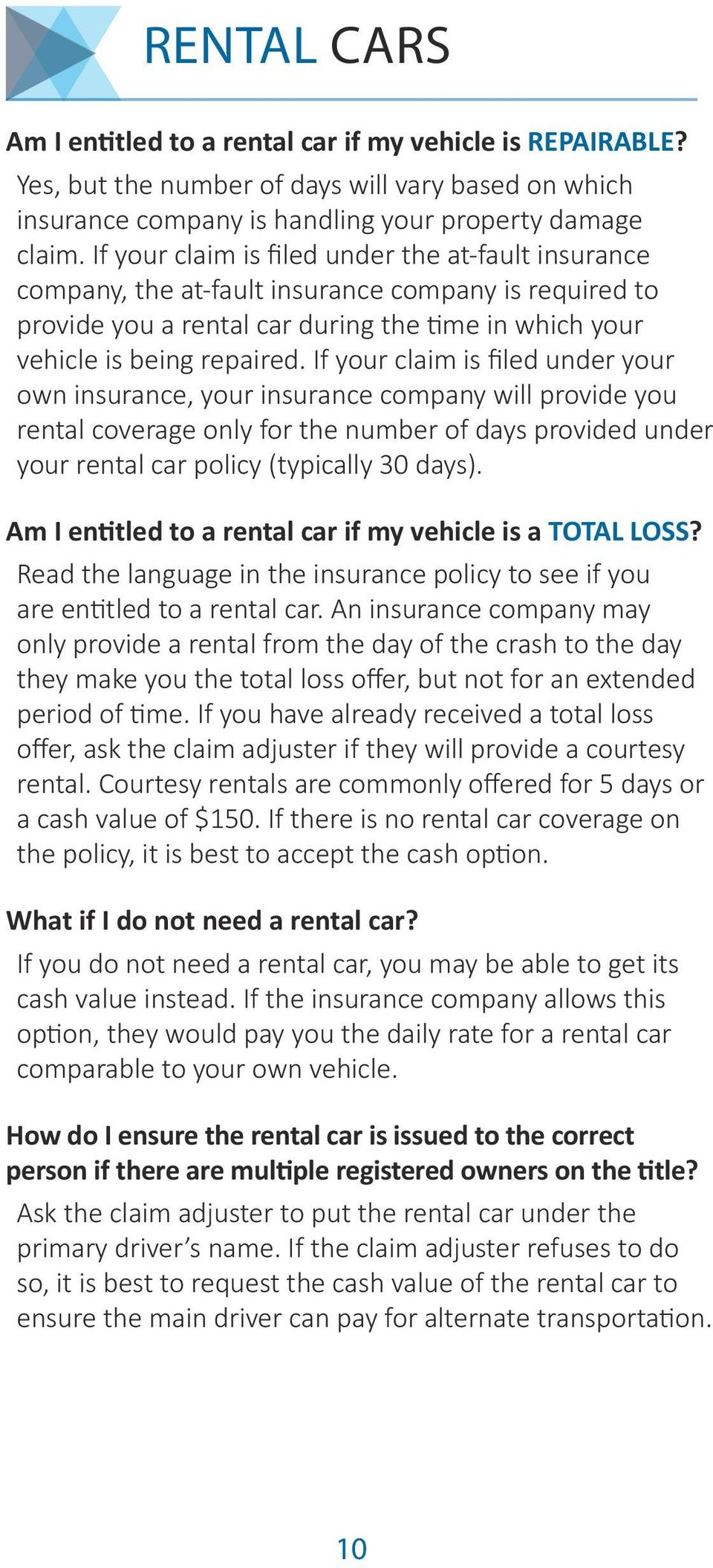 If your claim is filed under your own insurance, your insurance company will provide you rental coverage only for the number of days provided under your rental car policy (typically 30 days).