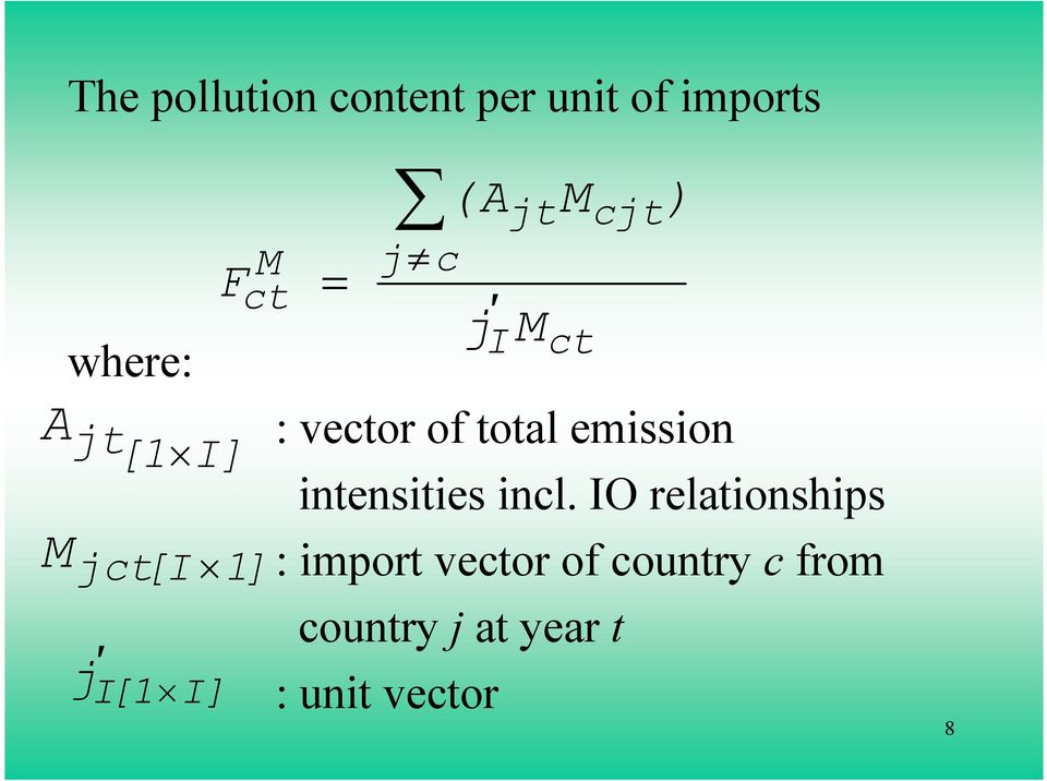emission intensities incl.